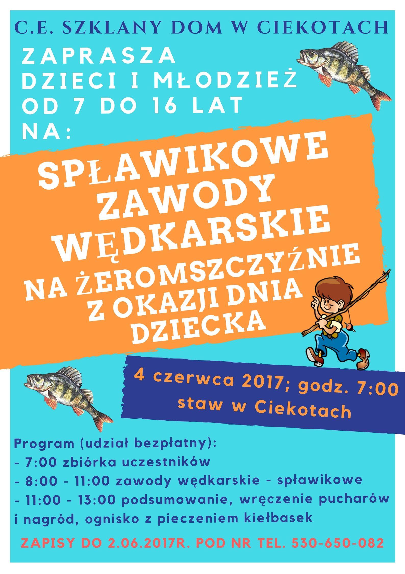 Spławikowe Zawody Wędkarskie z okazji Dnia Dziecka